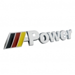 BMW - M POWER REAL ALUMINUM ENGINE HOOD EMBLEM BADGE NAMEPLATE