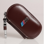 BMW - M REAL LEATHER CAR KEY CASE (BROWN)