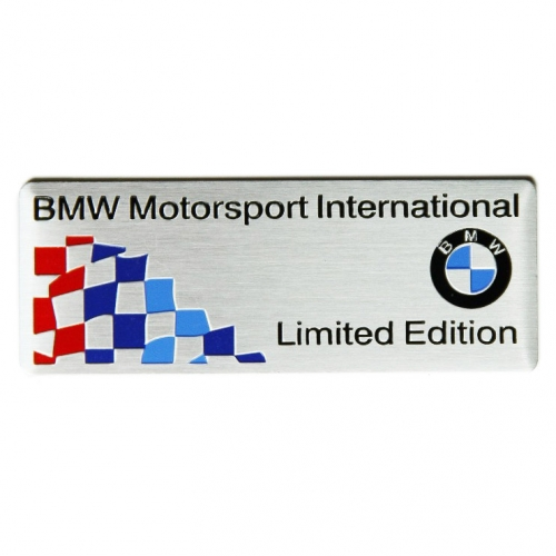 bmw m stylings 3d aluminum limited edition car logo