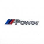 BMW - METAL M POWER LOGO CAR REAR TRUNK BADGE DECAL EMBLEM