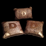DAD GARSON - LUXURY LEOPARD CUSHION GOLD (SET OF 3)