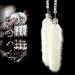 DAD GARSON - MINK CRYSTAL CHAIN - WHITE