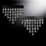 DAD GARSON - LUXURY MIRROR 9xLINE CRYSTAL CHAIN - SILVER