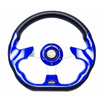 MOMO - AUTO RACE STEERING WHEEL WITH HORN BUTTON BLUE