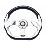 MOMO - AUTO RACE STEERING WHEEL WITH HORN BUTTON SILVER