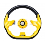 MOMO - AUTO RACE STEERING WHEEL WITH HORN BUTTON YELLOW