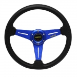 MOMO - AUTOMOBILE RACE STEERING WHEEL BLUE