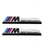 ONGO - BMW CAR M METAL SIDE LOGO SILVER PAIR