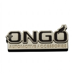 ONGO - DEDICATED TO AUTOMOTIVE METAL LABEL GOLD PAIR