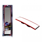 TYPE-R - WIDE CONVEX REAR ROOM MIRROR RED (300MM)